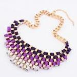 New Bubble Necklace,purple..